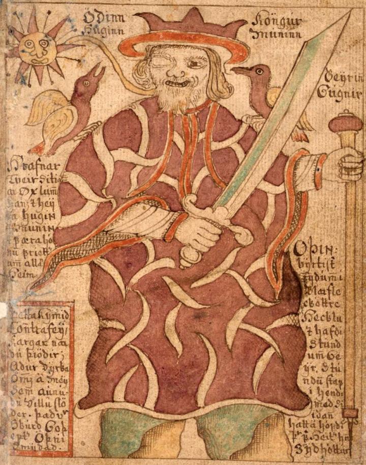 SÁM_66,_77r,_Odin